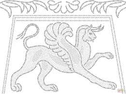 Small Picture Ancient Greek Mosaic Depicting Griffin coloring page Free