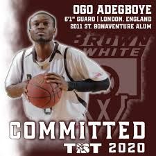 """Brown & White on Twitter: """"We needed a PG, and we got one! Ogo Adegboye led  the nation in MPG as a Sr. and has been a pro in Greece, Italy, and"""