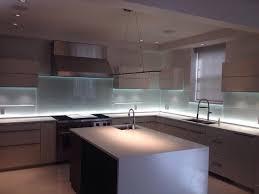 Glass Kitchen Backsplash wLED Lighting Modern Kitchen