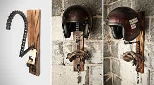 Motorcycle Helmet Display Stand Mesmerizing Solo Motorcycle Helmet Rack By Threepence HiConsumption