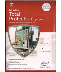 mcafee total security 2016 1 pc 1 year cd
