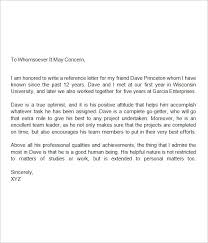 A Reference Letter How To Write A Letter Of Recommendation For A ...
