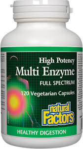 Natural Factors <b>Multi Enzyme High Potency</b> 120 capsules - With ...