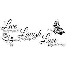 live laugh love wall art sticker quote