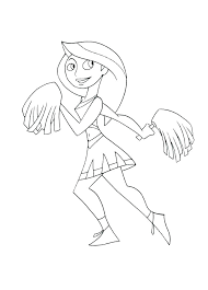 Cheerleader Coloring Pictures Cheerleaders Coloring Page Coloring