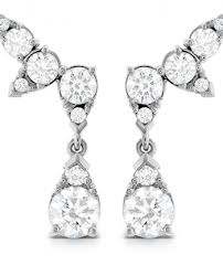 aerial diamond drop ear vine earrings