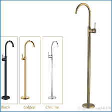 2019 bathroom faucets solid brass swivel spout bathtub faucet bathroom single handles hot cold water mixer tap floor mount from qqq541278 115 33 dhgate