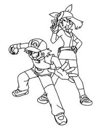 Small Picture Pokemon advanced coloring pages Color Pokemon Trainers Humans