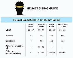 Army Helmet Size Chart Vega Verve Helmet Black Medium