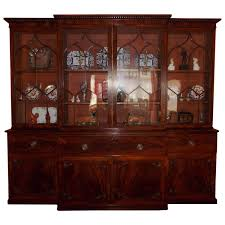 Chippendale China Cabinet English Chippendale Mahogany Breakfront With Secretary Circa 1790