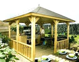 wood gazebo wooden garden and timber pergolas portable buildings yardistry installation with alu