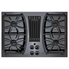 gas cooktop with downdraft. Fine Downdraft GE Profile Gas Cooktop With Downdraft Exhaust Black Common 30in Throughout With