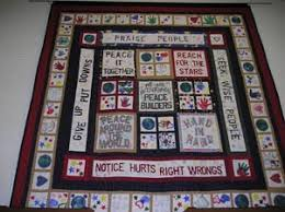 PeaceBuilders - What We Do - Featured PeaceBuilders Sites & Along with squares around the border that are made by individual children,  this quilt also includes panels designed by groups to represent the  PeaceBuilders ... Adamdwight.com