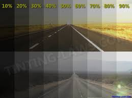 Example Of Tint Darkness Percentages Car Tinting Laws