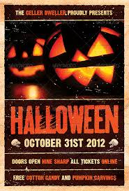 halloween template flyer pumpkin head halloween flyer template graphic design