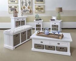 Coffee Tables With Basket Storage Coffee Table With Storage Baskets White Wooden Table Set With
