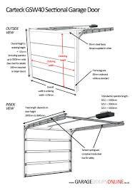 measuringwooden garage door sizes uk double dimensions nz
