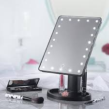 22 led touch screen makeup mirror tabletop cosmetic