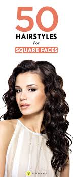 Square Face Bangs Hairstyle 50 Top Hairstyles For Square Faces