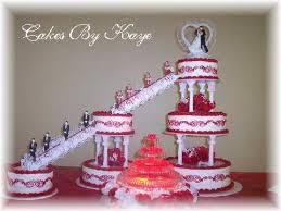 One Stop Wedding Red And White Fountain Wedding Cakes