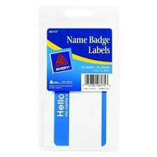Avery Name Badge Labels 25ct