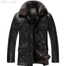 fall winter jacket men high end classic add wool warm winter black leather jacket men fashion leather jacket mens jackets and coats jacket oil jacket deals