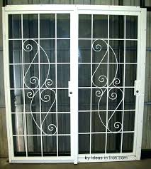 pet screen door guard astounding screen door guards metal inspiring patio security doors with glass door pet screen door