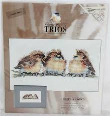 Valerie Pfeiffer Trios Threes A Crowd Counted Cross Stitch Pattern Baby Birds