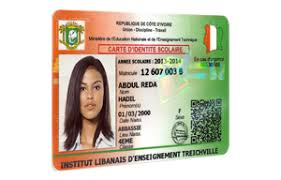 sample id cards identification of students in ivory coast evolis