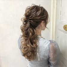 ロング 結婚式 ポニーテール 上品cherie Hair Design Hiide
