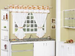 Decorating Kitchen Windows Marvelous Kitchen Window Treatments Wall Decor With White Curtain