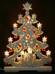 Details Zu 3d Schwibbogen Led Tanne Tannenbaum Mit Kugeln 44cm Erzgebirge Weihnachten Holz
