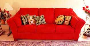 decorating with red furniture. Elegant Red Couch With 5 Pillows Contemporary Decorating Decorating With Red Furniture I