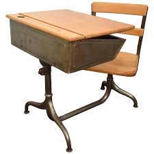 full size of desk beautiful old fashioned school desk with attached chair vintage salmon elementary