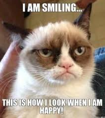 grumpy cat i am smiling.  Cat Grumpy Cat Smiling   I AM SMILINGu2026 THIS IS HOW LOOK WHEN  HAPPY In Am A