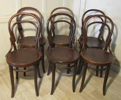 set of 6 thonet bistro bentwood chairs