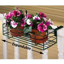 Adjustable Flower Pot Rack Rail Plant Holder