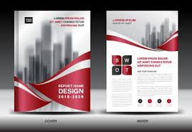 Company Report Template Awesome Business Brochure Flyer Templater Red Cover Design Annual Report