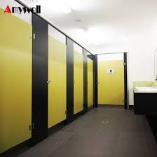 Bathroom Partition Delectable China Amywell 48m Height Public Commercial Compact HPL Toilet Cubicle