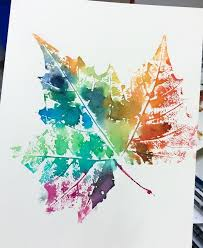 this week my and grade students kicked off the first week of fall by making leaf prints these leaves came off a sycamore tree and