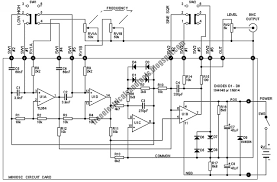 diagram ingram miniature audio oscillator circuit in the figure there are only two control pots rv1 and rv2 and two dpdt switches the output level pot includes an on off switch and is of logarithmic