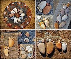 easy homemade garden decorations stone art