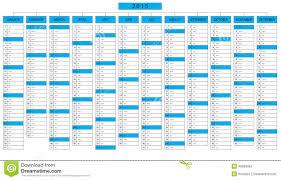 2015 Calendar Page Column Calendar For Year 2015 Stock Vector Illustration Of Frame