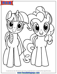 Small Picture Twilight Sparkle And Pinkie Pie Coloring Page H M Coloring Pages