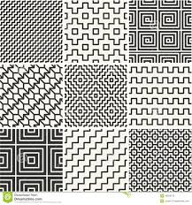 Simple Patterns Impressive Thin Lines Backgrounds With Simple Patterns Stock Vector