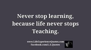 Life Experience Quotes Gorgeous Never Stop Learning Because Life Never Stops Teaching Life