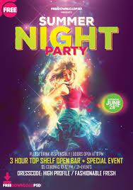 Party Flyer Creator Summer Night Party Flyer Template Psd Freedownloadpsd Com