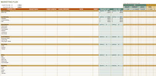 Marketing Plan Template Download Free Printable Schedule