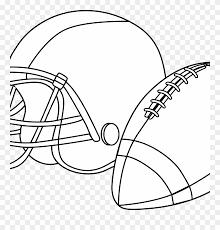 Football Helmet Coloring Pages Preschool Denver Broncos Free