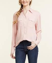 Frye Silver Pink Addie Button Up Women